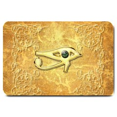 The All Seeing Eye With Eye Made Of Diamond Large Doormat