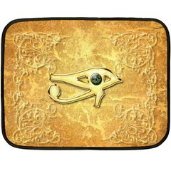 The All Seeing Eye With Eye Made Of Diamond Fleece Blanket (Mini)