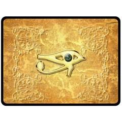 The All Seeing Eye With Eye Made Of Diamond Fleece Blanket (Large)