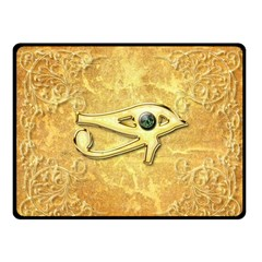 The All Seeing Eye With Eye Made Of Diamond Fleece Blanket (small)
