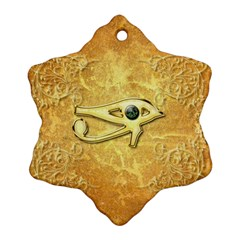 The All Seeing Eye With Eye Made Of Diamond Snowflake Ornament (2-Side)