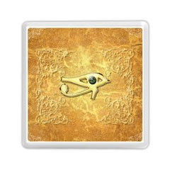 The All Seeing Eye With Eye Made Of Diamond Memory Card Reader (square)