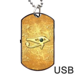 The All Seeing Eye With Eye Made Of Diamond Dog Tag Usb Flash (one Side)
