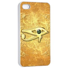 The All Seeing Eye With Eye Made Of Diamond Apple Iphone 4/4s Seamless Case (white)