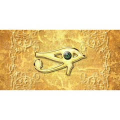 The All Seeing Eye With Eye Made Of Diamond You Are Invited 3d Greeting Card (8x4)