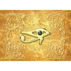The All Seeing Eye With Eye Made Of Diamond Birthday Cake 3d Greeting Card (7x5)