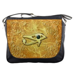 The All Seeing Eye With Eye Made Of Diamond Messenger Bags