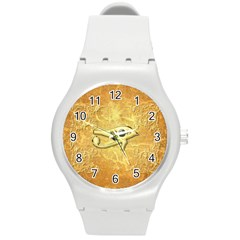 The All Seeing Eye With Eye Made Of Diamond Round Plastic Sport Watch (M)