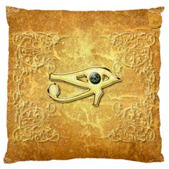 The All Seeing Eye With Eye Made Of Diamond Large Cushion Cases (One Side)