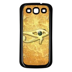 The All Seeing Eye With Eye Made Of Diamond Samsung Galaxy S3 Back Case (Black)
