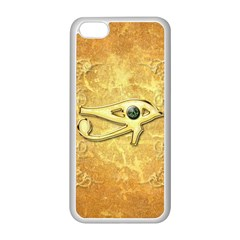 The All Seeing Eye With Eye Made Of Diamond Apple iPhone 5C Seamless Case (White)