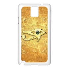 The All Seeing Eye With Eye Made Of Diamond Samsung Galaxy Note 3 N9005 Case (White)