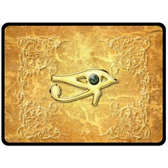 The All Seeing Eye With Eye Made Of Diamond Double Sided Fleece Blanket (Large)