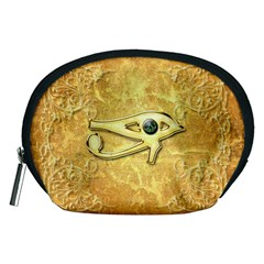 The All Seeing Eye With Eye Made Of Diamond Accessory Pouches (Medium)