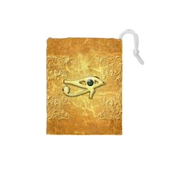 The All Seeing Eye With Eye Made Of Diamond Drawstring Pouches (small)
