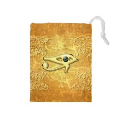 The All Seeing Eye With Eye Made Of Diamond Drawstring Pouches (Medium)