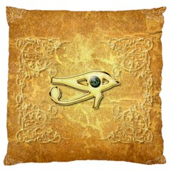 The All Seeing Eye With Eye Made Of Diamond Large Flano Cushion Cases (one Side)