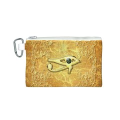 The All Seeing Eye With Eye Made Of Diamond Canvas Cosmetic Bag (S)