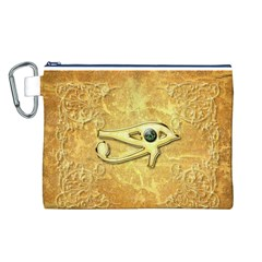 The All Seeing Eye With Eye Made Of Diamond Canvas Cosmetic Bag (L)