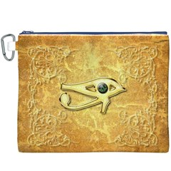 The All Seeing Eye With Eye Made Of Diamond Canvas Cosmetic Bag (XXXL)