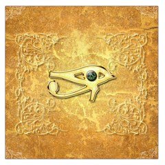 The All Seeing Eye With Eye Made Of Diamond Large Satin Scarf (Square)