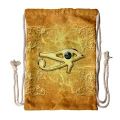 The All Seeing Eye With Eye Made Of Diamond Drawstring Bag (Large)