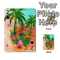 Tropical Design With Palm And Flowers Playing Cards 54 Designs