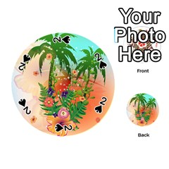 Tropical Design With Palm And Flowers Playing Cards 54 (Round)