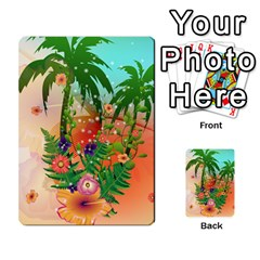 Tropical Design With Palm And Flowers Multi Purpose Cards (rectangle)