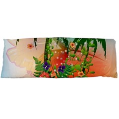 Tropical Design With Palm And Flowers Body Pillow Cases Dakimakura (Two Sides)