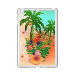 Tropical Design With Palm And Flowers iPad Mini 2 Enamel Coated Cases