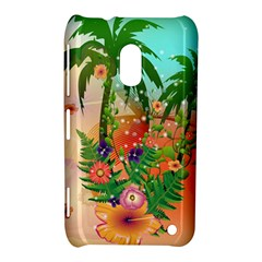 Tropical Design With Palm And Flowers Nokia Lumia 620