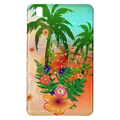 Tropical Design With Palm And Flowers Samsung Galaxy Tab Pro 8.4 Hardshell Case
