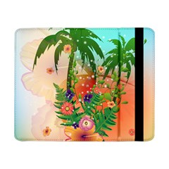 Tropical Design With Palm And Flowers Samsung Galaxy Tab Pro 8.4  Flip Case