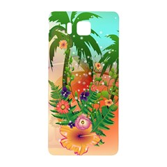 Tropical Design With Palm And Flowers Samsung Galaxy Alpha Hardshell Back Case