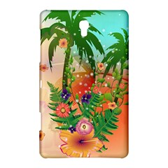 Tropical Design With Palm And Flowers Samsung Galaxy Tab S (8.4 ) Hardshell Case