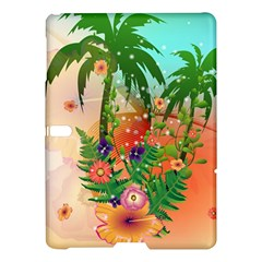 Tropical Design With Palm And Flowers Samsung Galaxy Tab S (10.5 ) Hardshell Case