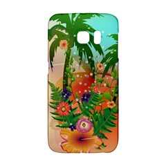 Tropical Design With Palm And Flowers Galaxy S6 Edge