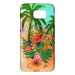 Tropical Design With Palm And Flowers Galaxy S6