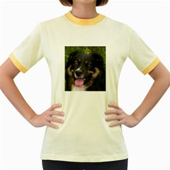 Australian Shepherd Black Tri Women s Fitted Ringer T-Shirts