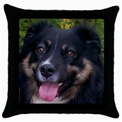 Australian Shepherd Black Tri Throw Pillow Cases (Black)
