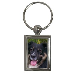 Australian Shepherd Black Tri Key Chains (Rectangle)