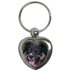 Australian Shepherd Black Tri Key Chains (Heart)