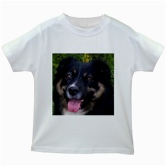 Australian Shepherd Black Tri Kids White T-Shirts
