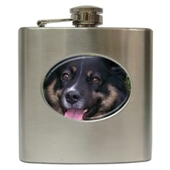 Australian Shepherd Black Tri Hip Flask (6 oz)