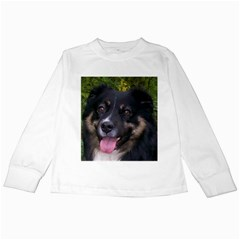 Australian Shepherd Black Tri Kids Long Sleeve T-Shirts