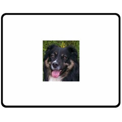 Australian Shepherd Black Tri Fleece Blanket (Medium)