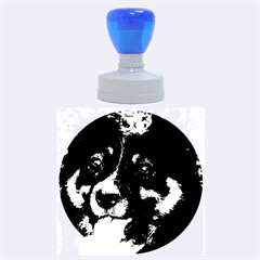 Australian Shepherd Black Tri Rubber Round Stamps (Large)
