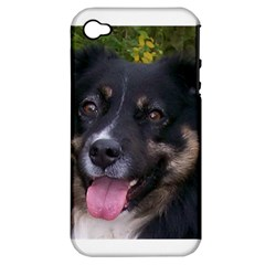 Australian Shepherd Black Tri Apple iPhone 4/4S Hardshell Case (PC+Silicone)