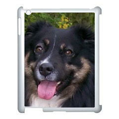 Australian Shepherd Black Tri Apple iPad 3/4 Case (White)